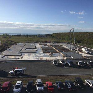 Full Tilt Tilt Up Construction Site Cast Concrete Steel